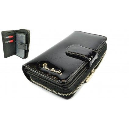 Černá kožená peněženka dámská