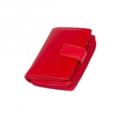 Dámská kožená peněženka červená - 2