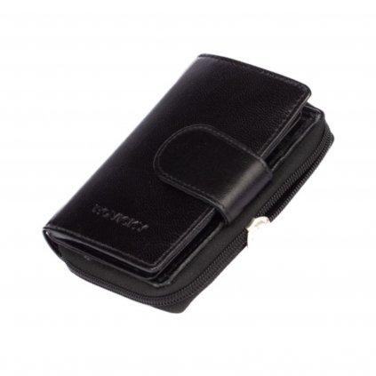 Kožená peněženka dámská černá - 2