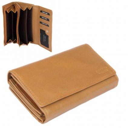 Dámská peněženka hnědá - 1
