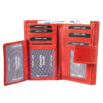 Kožená dámská peněženka hnědá - 2