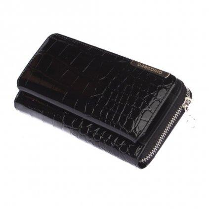 Dámská černá peněženka s krabičkou - 3