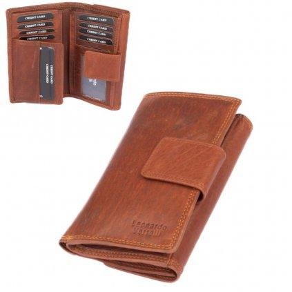 Malá dámská peněženka kožená - 1