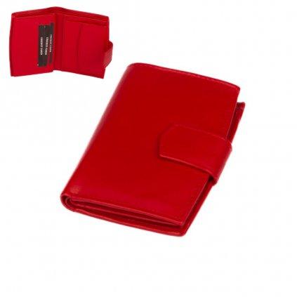 Červená peněženka dámská