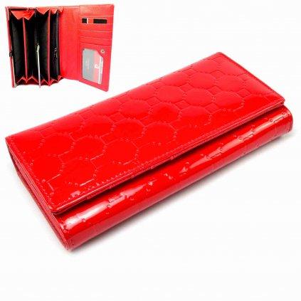 Dámská velká peněženka červená - 1
