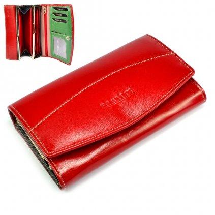 Dámská velká kožená peněženka s krabičkou
