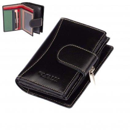 Dámská kožená peněženka s přezkou - 1