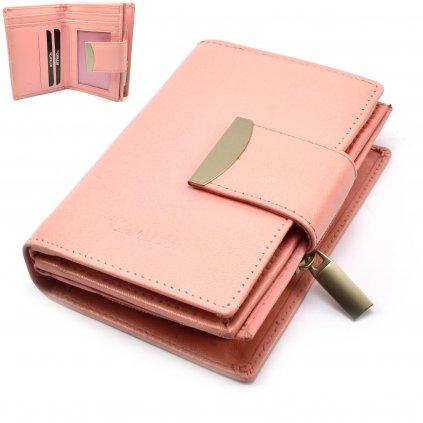 Peněženka dámská růžová - 1