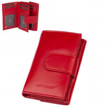 Dámská červená peněženka