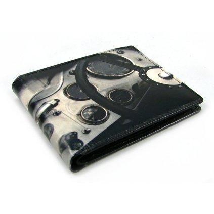 Kožená retro malá peněženka - 2
