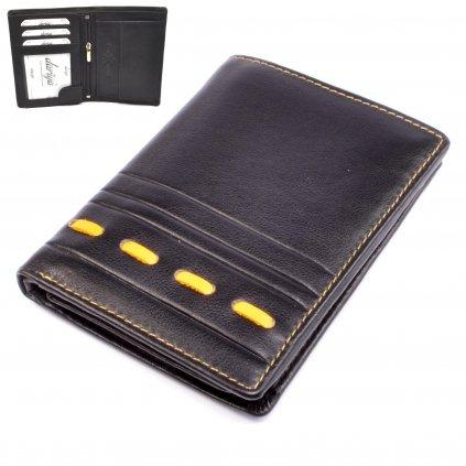 Černá luxusní pánská peněženka