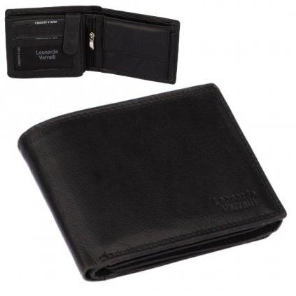 Luxusní černá pánská peněženka - 1