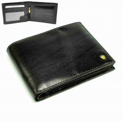 Černá pánská kožená peněženka - 2