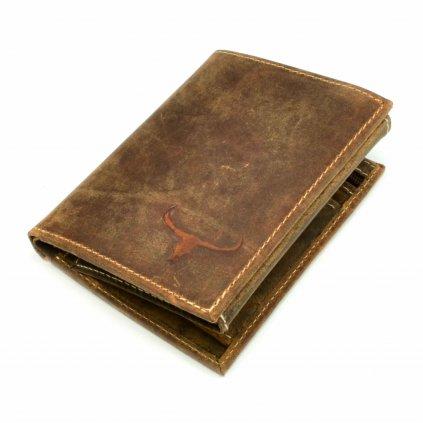 Peněženka hnědá kožená pánská - 2