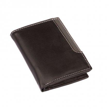 Pánská černá kožená peněženka - 2