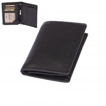Černá kožená peněženka pánská - 2