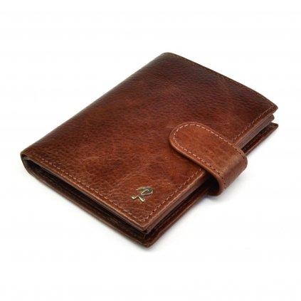 Peněženka kožená hnědá pánská - 2