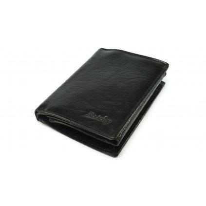Kožená černá peněženka pánská - 2