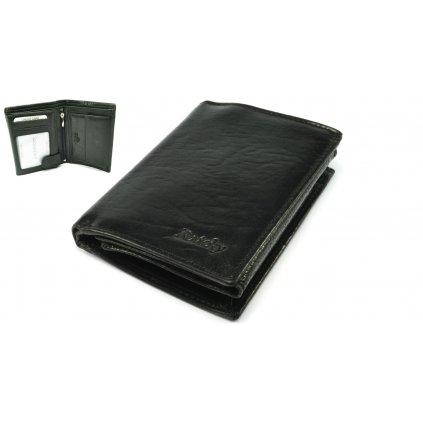 Kožená černá peněženka pánská