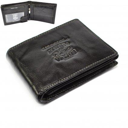 Černá pánská peněženka kožená