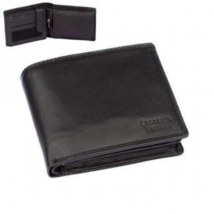 Tmavá peněženka kožená pánská - 1