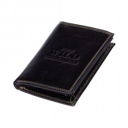 Kožená peněženka černá pánská - 2