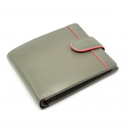 Kožená šedá peněženka pánská - 2