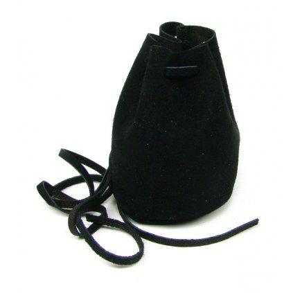 Kožený měšec černý - 1