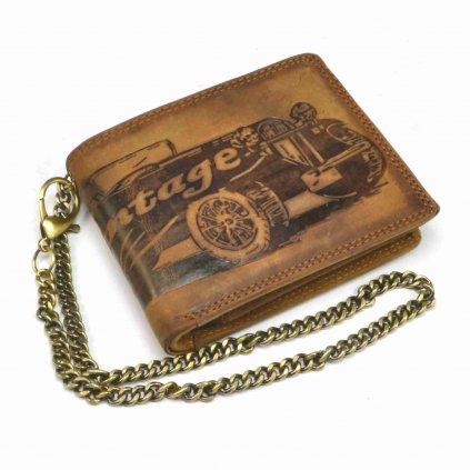 Pánská kožená peněženka s řetězem - 2