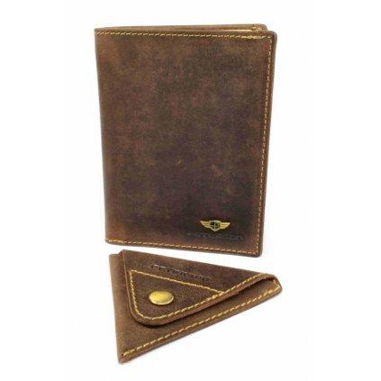Pánská peněženka kožená tmavě hnědá - 2