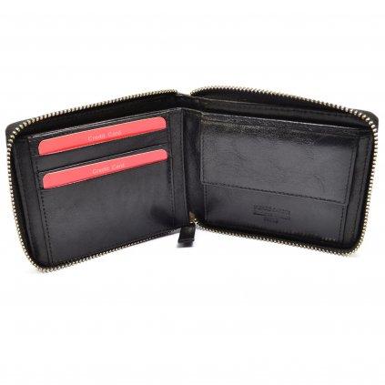 Černá peněženka pánská na zip - 5
