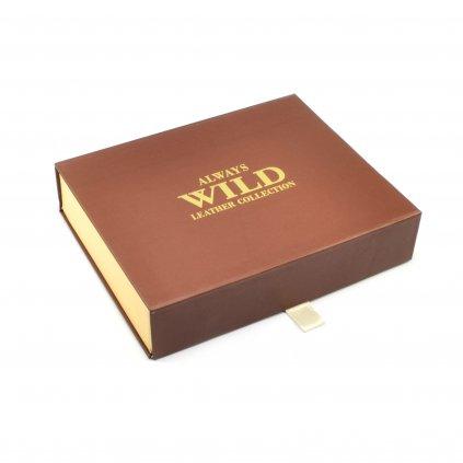 Hnědá pánská peněženka na zip