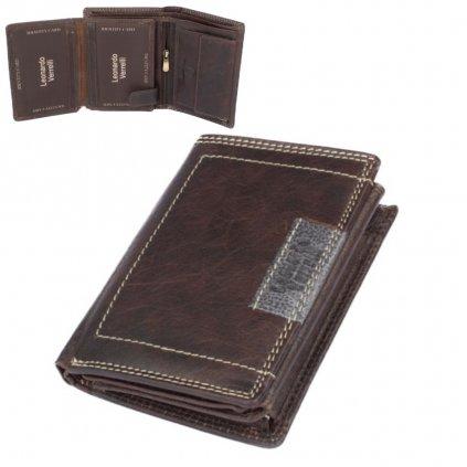 Kožená moderní peněženka pánská