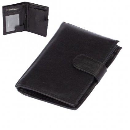 Pánská peněženka černá s přezkou - 1