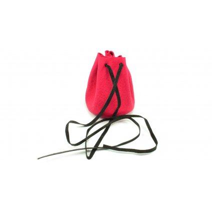 Kožený měšec růžový - 1