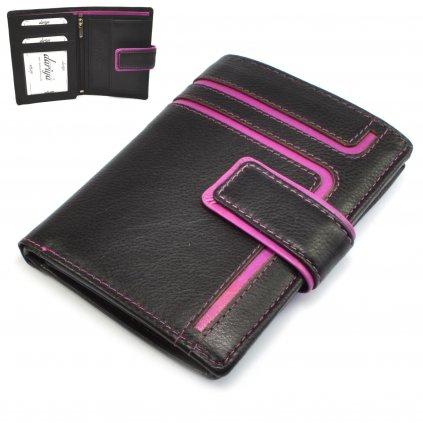 Pánská kožená zapínací peněženka
