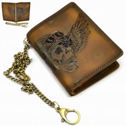 Pánská hnědá peněženka kožená