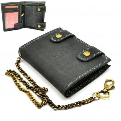 Kožená peněženka pánská s přezkou - 1