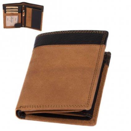 Světle hnědá peněženka pánská - 1