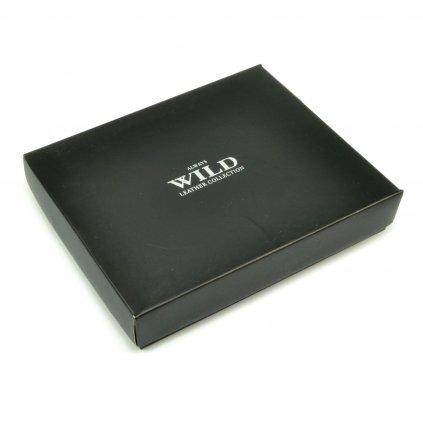 Hnědá kožená peněženka pánská