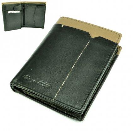 Peněženka kožená černá pánská - 1
