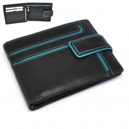 Černá kožená pánská peněženka - 1