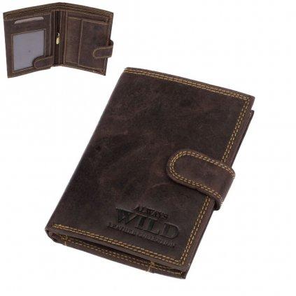 Zapínací peněženka kožená pánská - 1
