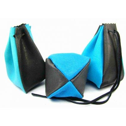 Kožený MAXI měšec modrý - 1
