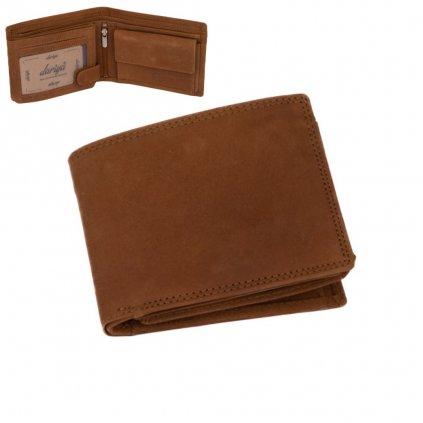 Pánská kožená peněženka hnědá - 1