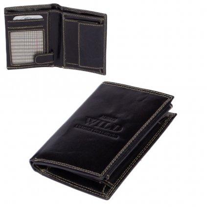 Černá peněženka pánská kožená - 1