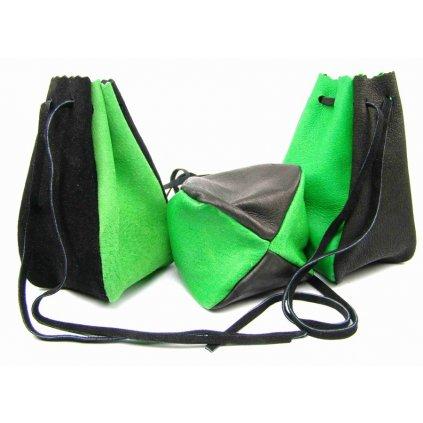 Kožený MAXI měšec zelený - 1