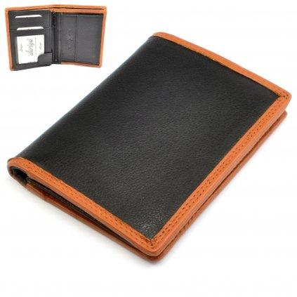 Kožená pánská peněženka černá - 1