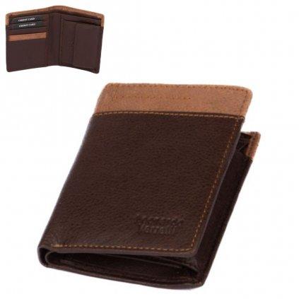 Pánská tmavě hnědá peněženka kožená - 1