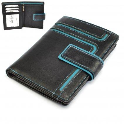 Kožená pánská peněženka barevná - 1